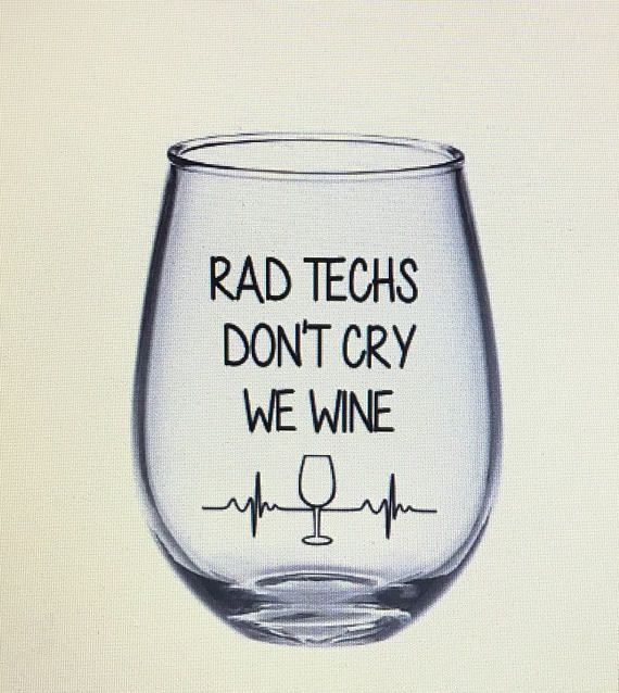 Rad tech wine glass. Rad tech gift. X-ray tech gift. X-ray