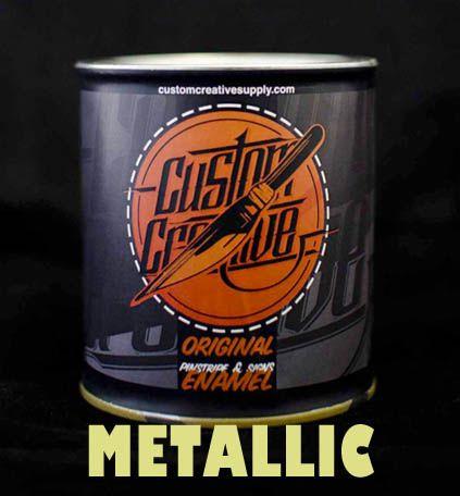 Enamel (esmalte) Metallic para pinstriping de Custom Creative. 125 ml.