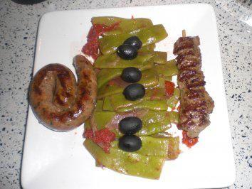 Rezept: Breite Bohnen lauwarm in feinem Olivenöl