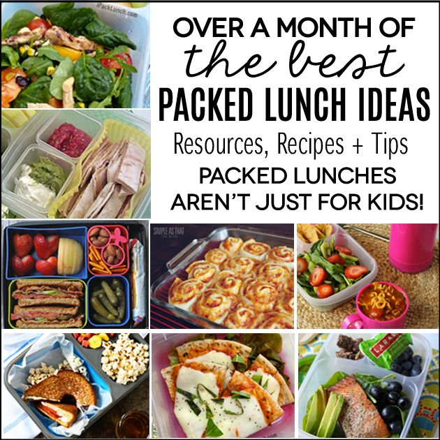 Packed Lunches Aren't Just For Kids! HUGE resource of lunch ideas!