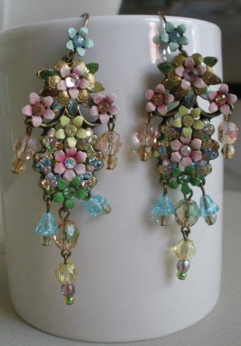 Michal Negrin Vintage Chandelier Earrings