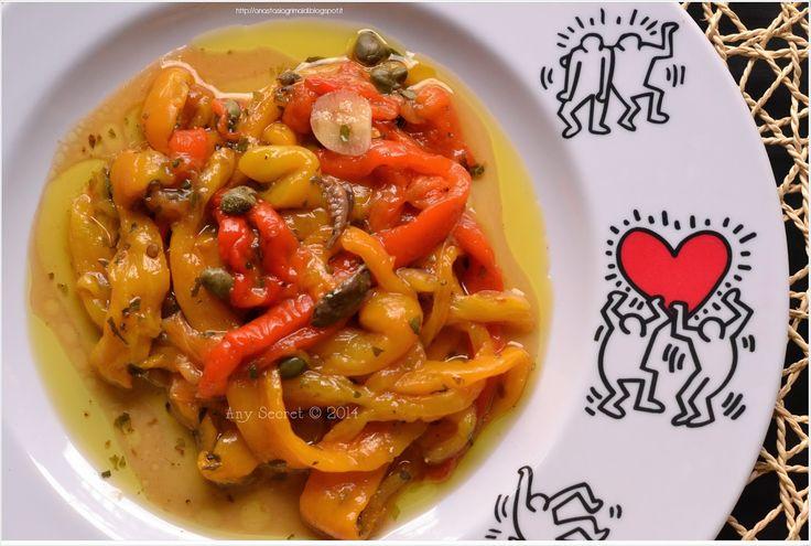 Any secret...: Peperoni arrostiti con il piatto crisp: una figata!