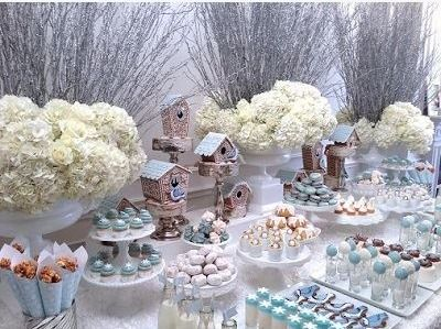Winter christmas dessert table - This would take practice