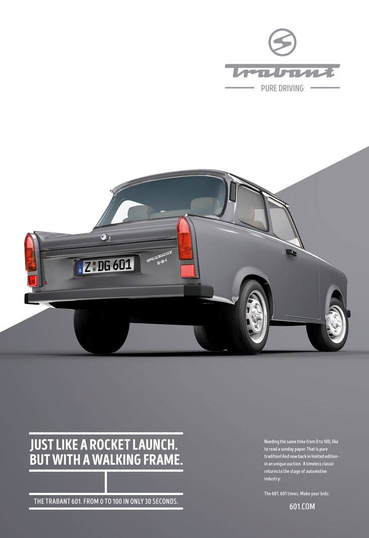 """""""The Trabant 601: from 0-100 in only 30 seconds"""". Let's hope you're not in a…"""