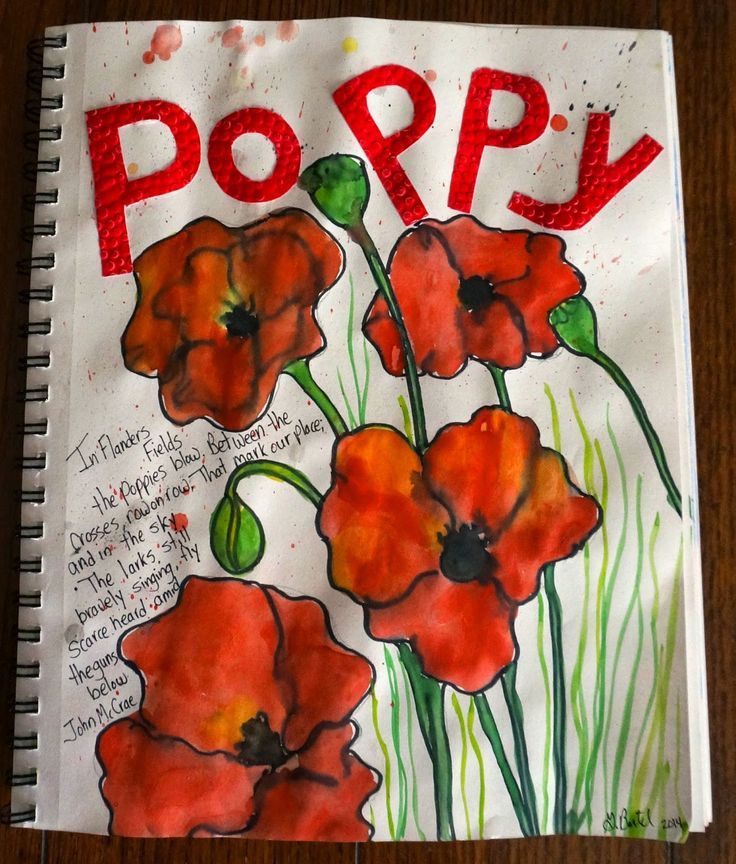 Poppies in the Art Journal                                                                                                                                                                                 More