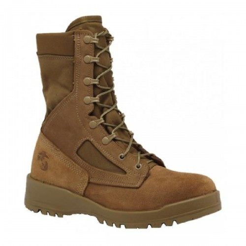 """Belleville 550 USMC Steel Toe Coyote Tan 8"""" Combat Boot, Made in USA"""