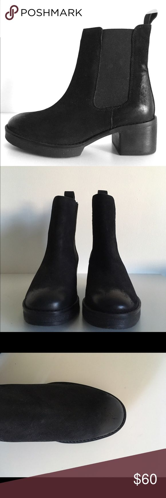 """Asos Chelsea Boots Classic Nubuck Leather Chelsea Boots US size6/ UK size4. (Size conversion according to asos website) Never worn. 2"""" heel with 3/4"""" platform at front. ASOS Shoes Ankle Boots & Booties"""
