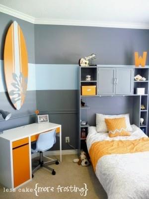Orange Gray And Light Blue Boy Bedroom My Big Girl Home Pinterest
