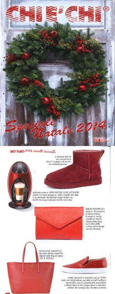 "#ledemotiondeisgn presents its ""ERI"" #clutch on ""#chièchi"" #Christmas special edition magazine!  #bags #fashionmagazine #fashion #borse"