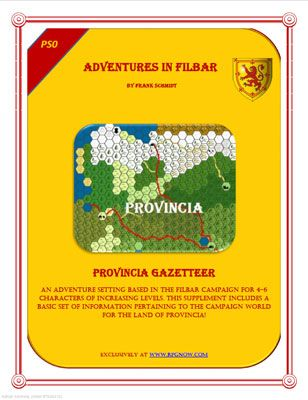 PS0 - Provincia Gazetteer is a free role playing game supplement from Adventures in Filbar. #RPG
