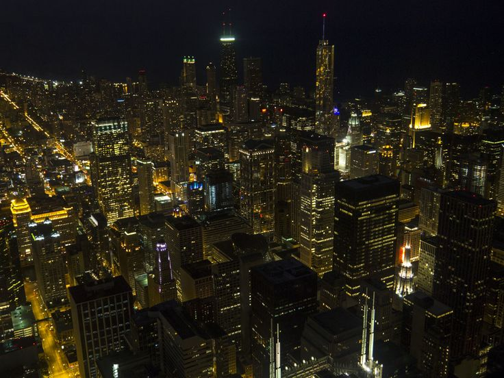 Chicago by night (vista dalla Willis Tower)