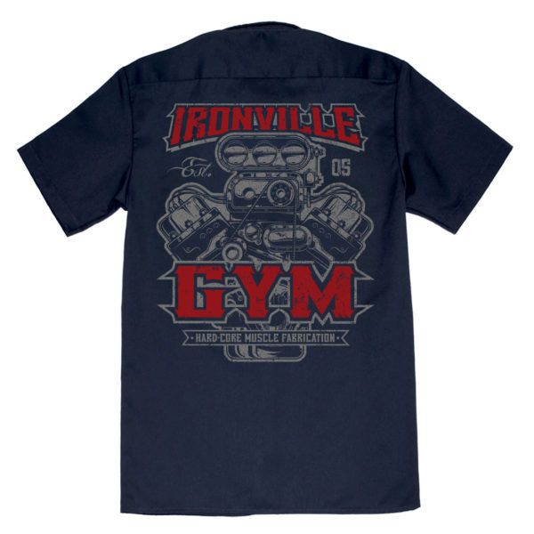 Ironville Gym Muscle Fabrication Bodybuilder Shop Shirt | Ironville Clothing