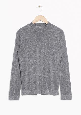 Glittery knit grey