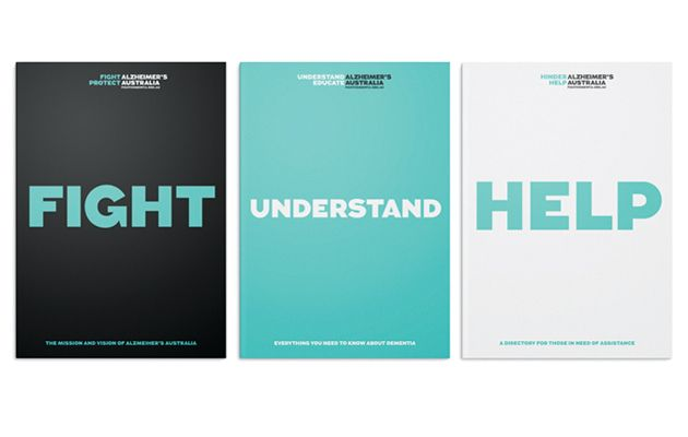 Identity work for Alzheimer's Australia by Interbrand Australia.