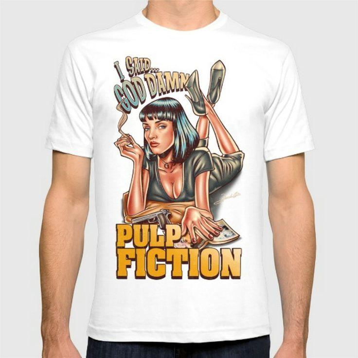Pulp Fiction New Fashion Men'S T-Shirts Cotton T Shirts Man Clothing Wholesale #Affiliate