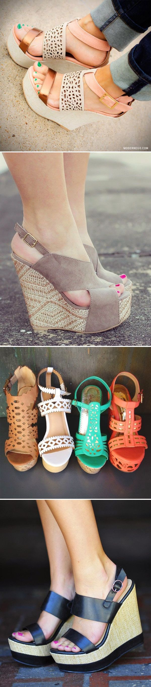Wonderful Wedges! Click through to see my favorite wedges and sandals for Spring and Summe/Dorothy Johnson