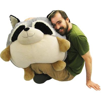 Massive Squishable Raccoon A Giant Plush Beanbag Chair