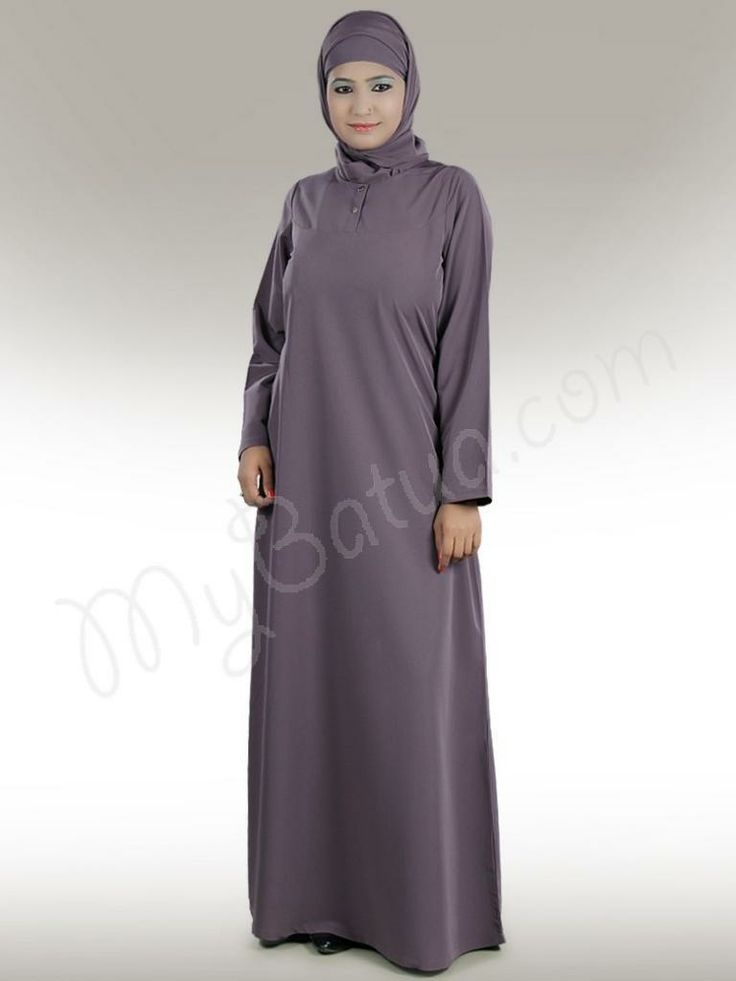 Natasha Abaya!   Style No: Ay-207   Shopping Link : http://www.mybatua.com/natasha-abaya  Available Sizes XS to 7XL (size chart: http://www.mybatua.com/size-chart/#ABAYA/JILBAB)   •	A-line abaya with round neck. •	Front open placket with metal titch button closure. •	Utility side pockets. •	Matching sleeve. •	Matching Hijab and Band can be bought separately •	Fabric: Kashibo (polyester) •	Care: Dry Clean