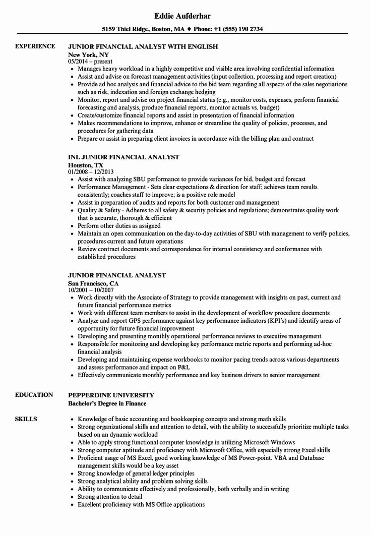 23 financial analyst resume examples in 2020 sales
