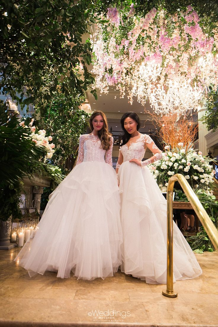 2016 Bridal Fashion: (Left: Kenneth Pool, Right: Hayley Paige) Gowns: Now & Forever Bridal Boutique   Photo: Civic Photos