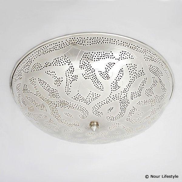 Egyptische plafondlamp Warda met Arabisch patroon