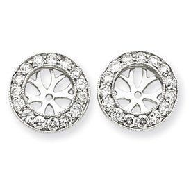 14k White Gold 1 Carat Diamond Earring Jackets Bijou. $926.60