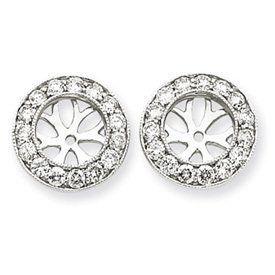 14k White Gold 1 Carat Diamond Earring Jackets Bijou. $926.60