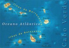 Mapa Kapverdských ostrovů #kapverdy