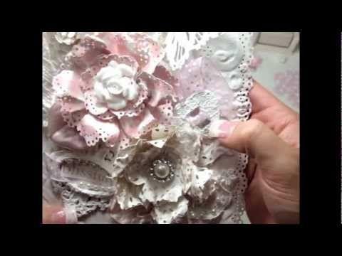 Tutorial - Doily Paper Flower - YouTube