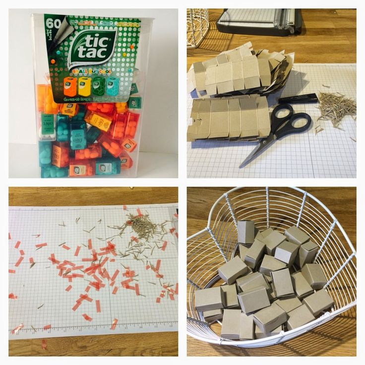 Stamp with Esther: My swap from Telford - Mini tic tac box with instructions