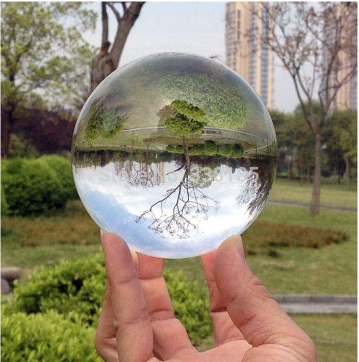 80mm Rare Clear Asian Quartz feng shui ball Crystal Ball Sphere Fashion Table Decor Good Luck Ball