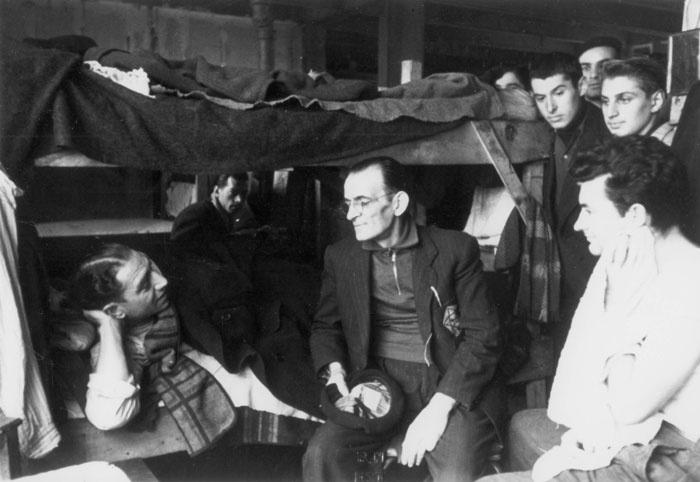 Jews in the men's living quarters in Drancy, France, December 3, 1942.