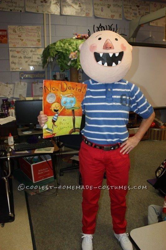 "Fun DIY Costume by a Kindergarten Teacher: David from ""No, David!"" Children's Book ... This website is the Pinterest of costumes"