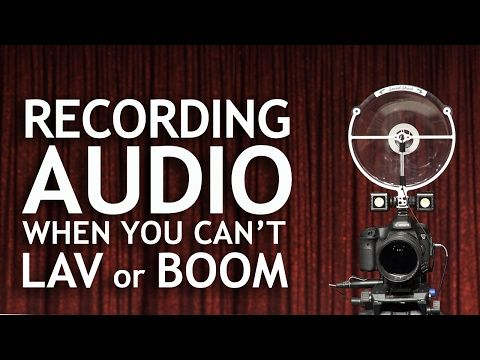 How to Record Audio When You Can't Use a Lav or Boom - YouTube