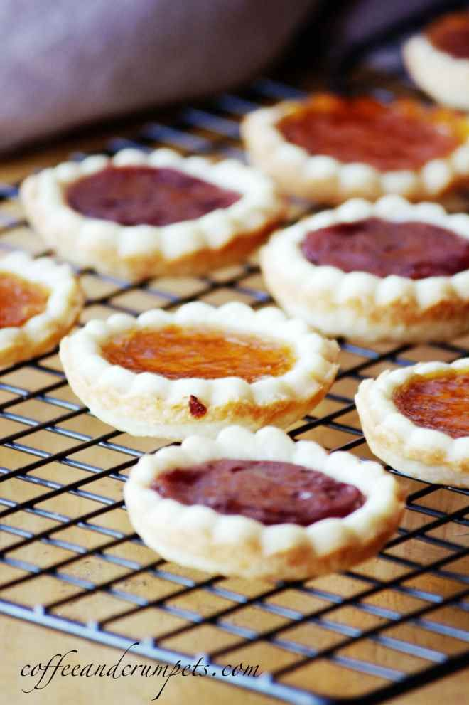 Jam Tarts - made these thanks to inspiration from the book Caged Graves and with homemade peach jam from my cousin.