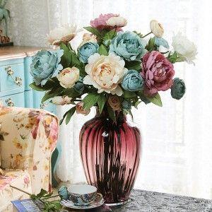 Arranjo flores artificiais                                                                                                                                                                                 Mais