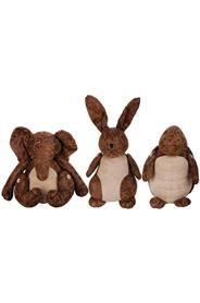 Ajtókitámasztó koptatott bőrből, három fajta állatfigura, nagy méretben.Nyúl, teknős, elefántMérete: magasság: 30-35 cm szélesség: 20-25 cm mélység: 20-25cmSúlya: 2,78 kg