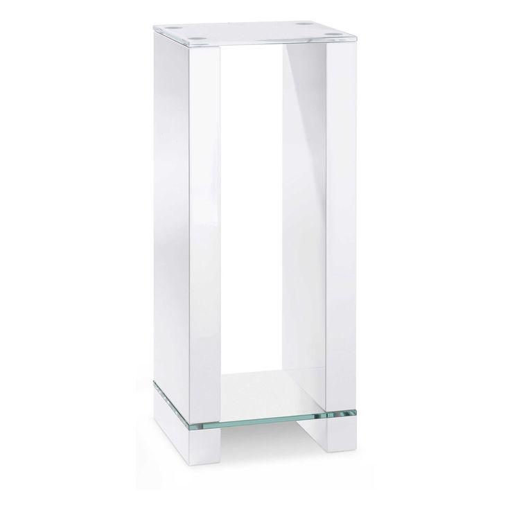 Blumensäule Florida Weiß Kunststoff / Glas