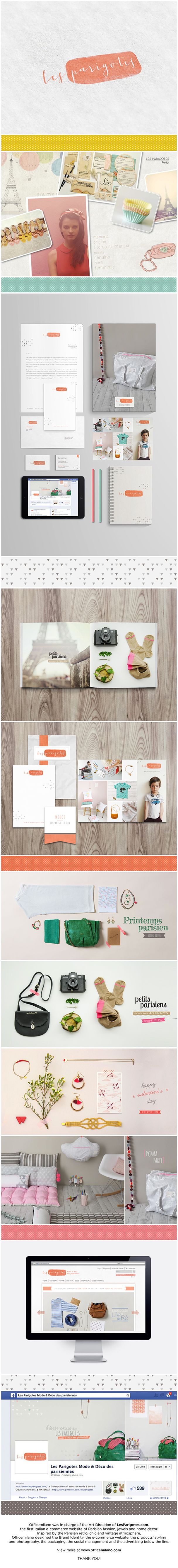 Les Parigotes Brand Identity #brochure #e-commerce #website #styling #photography #art direction by Officemilano