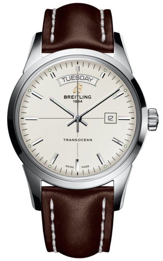 @breitling Watch Transocean #bezel-fixed #bracelet-strap-leather…
