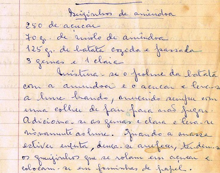 As Receitas da Avó Helena e da Avó Eduarda: Beijinhos de Amêndoa (Almond Kisses)