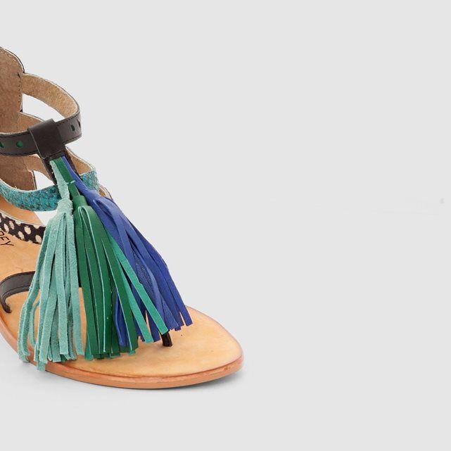 Sandales pompons SOFT GREY