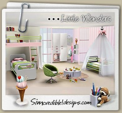 Lovely Designs 3 | TOP Quality Content For Sims Games Little Wonders Kids Room