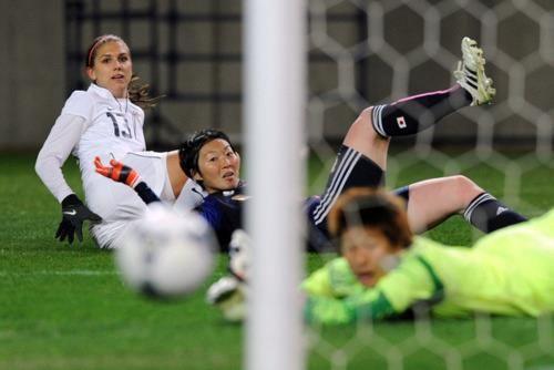 Alex Morgan, guess what? She scored.