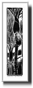 'Nikau Palms'  by Dawn Mann 2002 - Matted - Black