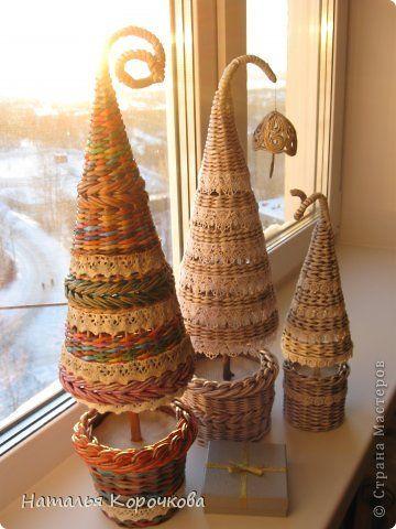 Řemeslná produkt na Nový rok Weave něco času na fotografický papír Nový rok krajky trubky 13