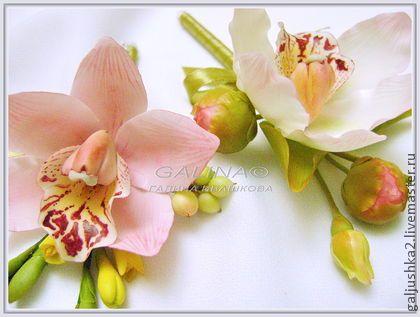 """Свадебные бутоньерки """"Орхидеи"""". Холодный фарфор. - galjushka2 handmade"""