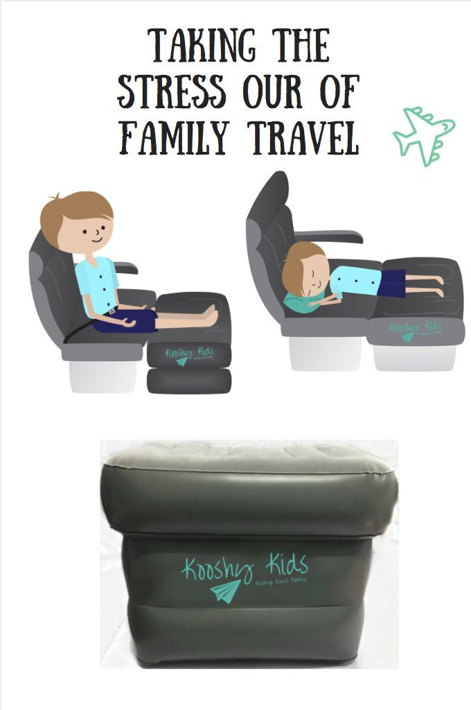 The Kooshy Kids Kooshion is an inflatable cushion that fills the space between plane seats and allows your child to sit upright or lay flat. It is made from the most durable PVC and has a soft flocking top and base. It fits most commercial aircrafts (economy) and can be purchased with or without a pump. It comes with a free drawstring backpack and an inflatable head pillow for additional comfy. The Kooshion is also useful on buses, trains and in the car. It weighs only 850 grams.