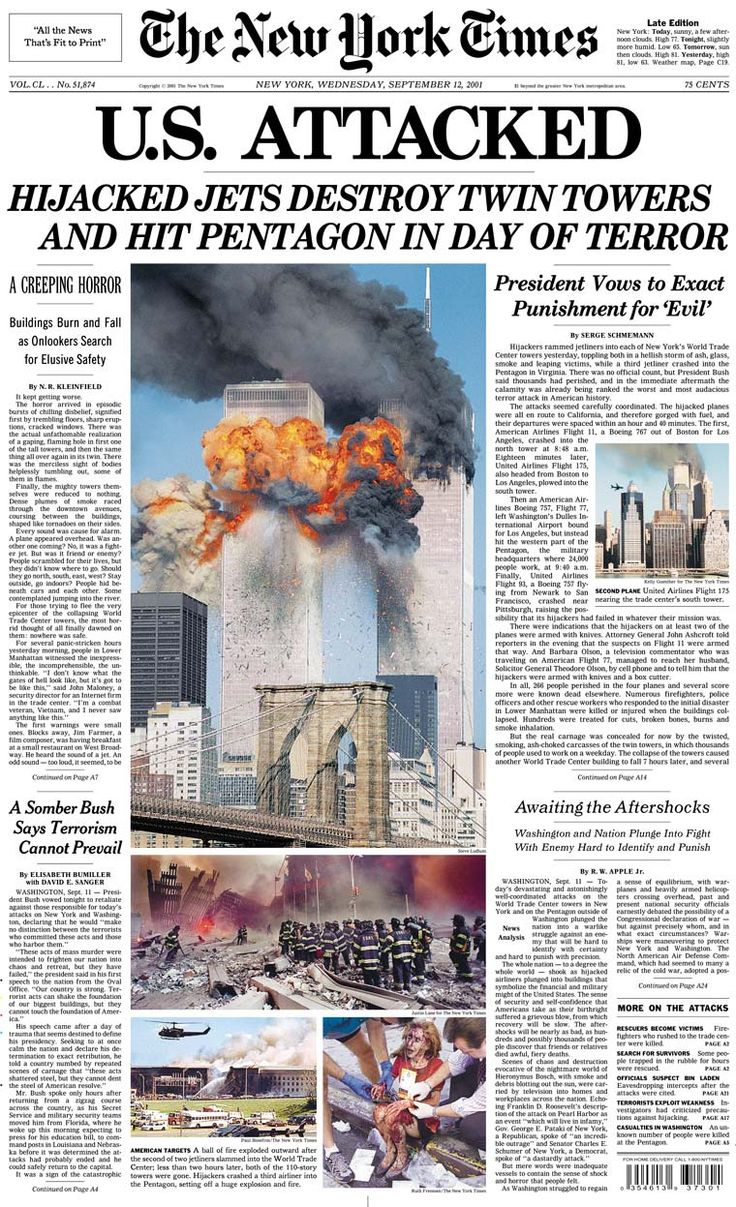 Betty ong s 9 11 call from flight 11 youtube - Newspaper Front Pages From September 12 2001 911 Remembered Ten