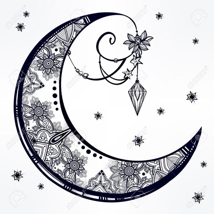 best 25 tribal moon tattoo ideas on pinterest mother of. Black Bedroom Furniture Sets. Home Design Ideas